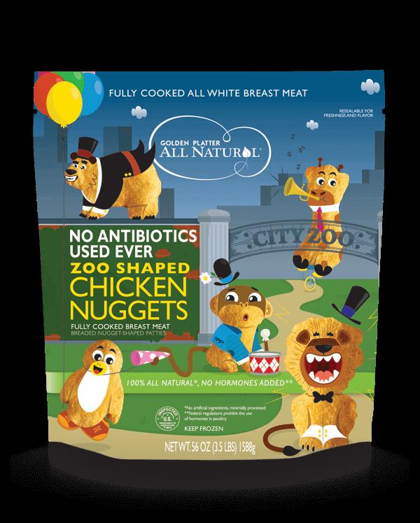Gluten Free Antibiotic Free Zoo Shaped Chicken Nuggets